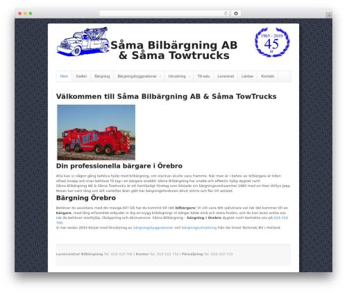 Canvas premium WordPress theme - samatowtrucks.se