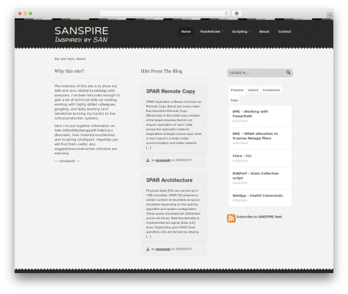 Theme WordPress Swatch - sanspire.com