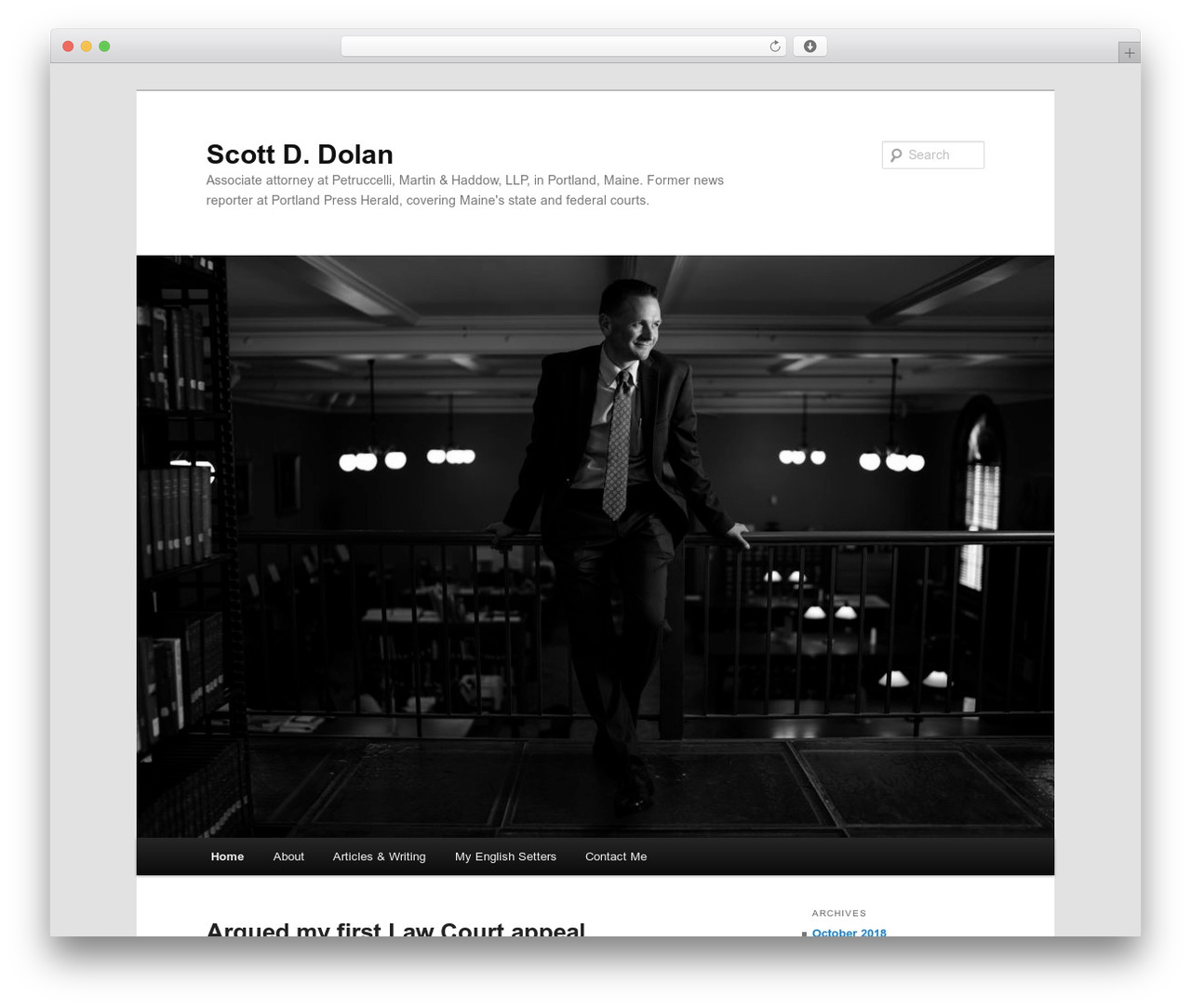 Twenty Eleven WordPress news theme - scottddolan.com