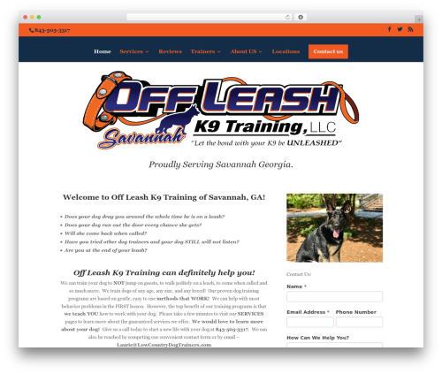 WordPress website template Divi - savannahdogtrainers.com