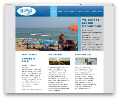WordPress website template Executive Child Theme - seaside-management.com