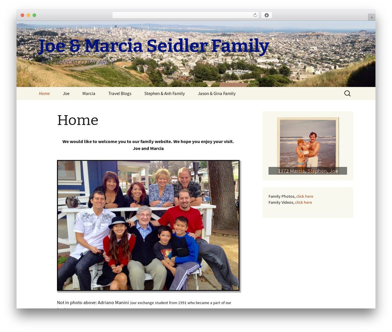 2013 Child WordPress website template - seidler.com