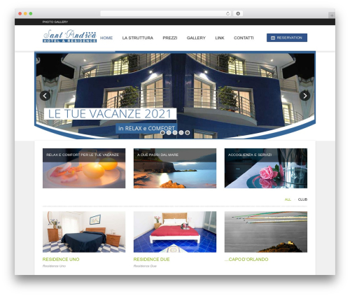 Hotec WordPress theme - santandrearesidence.com