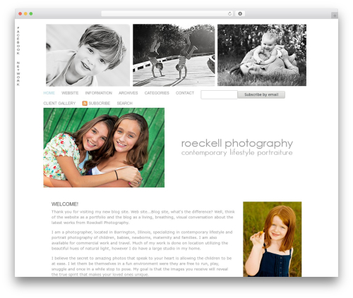 ProPhoto best WordPress template - sallyroeckellphotography.com