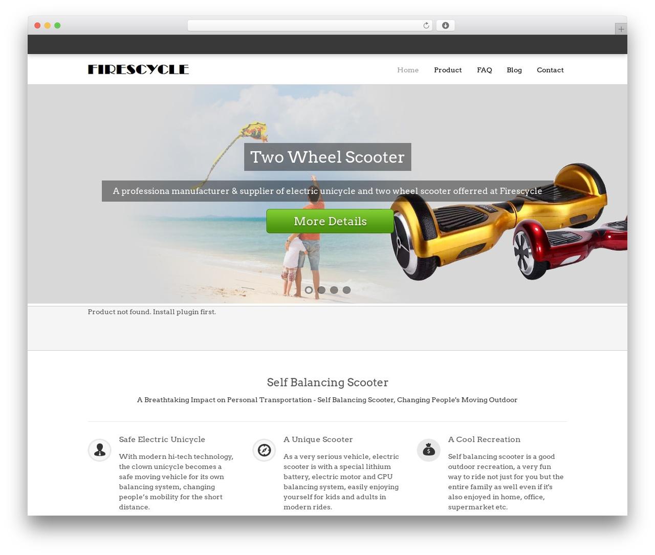 Theme WordPress SaleJunction Pro - selfbalancing-scooter.com