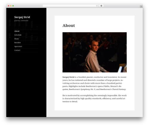 WordPress template Twenty Fifteen - sergejstrid.com