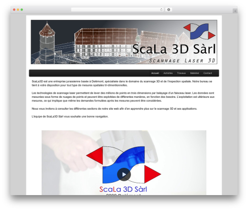 WordPress theme PageLines Framework - scala3d.ch