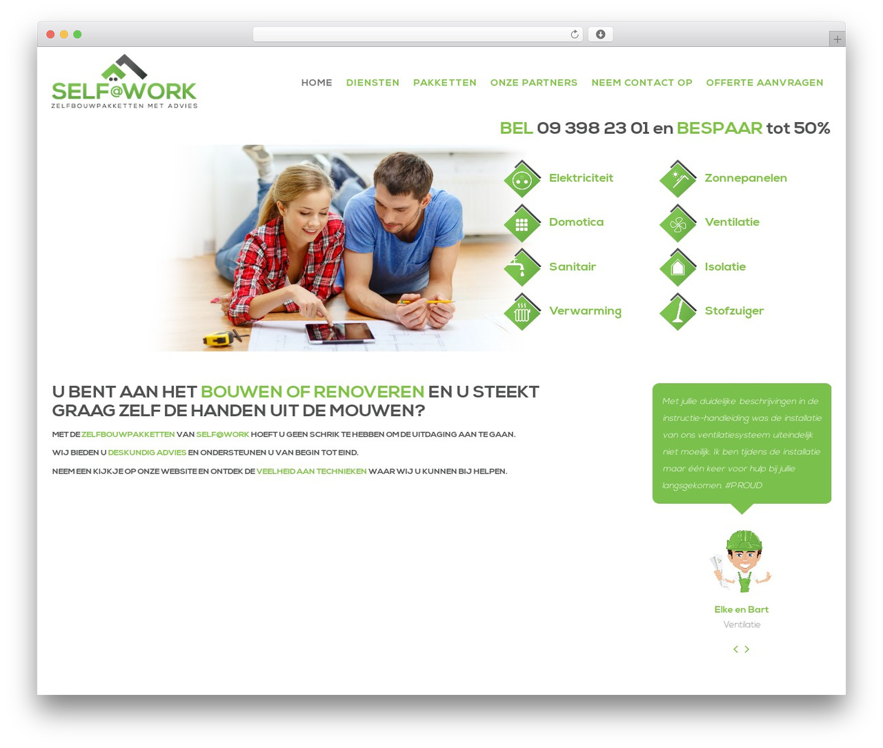 CmsSuperHero premium WordPress theme - selfatwork.be