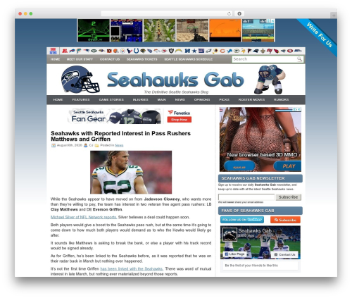 iMobile WordPress gaming theme - seahawksgab.com