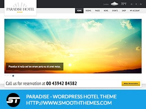 ParadiseHotel WordPress hotel theme