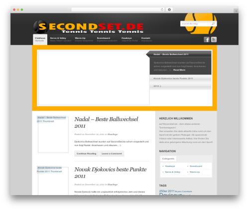 Revolution WordPress blog theme - secondset.de