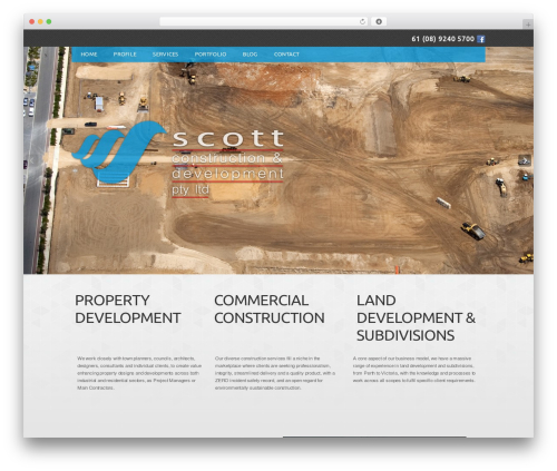 Scott Construction WordPress template for business - scottconstruction.com.au