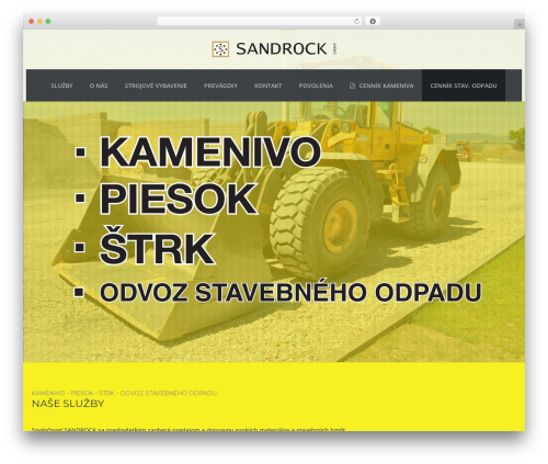 TheBuilt WordPress website template - sandrock.sk