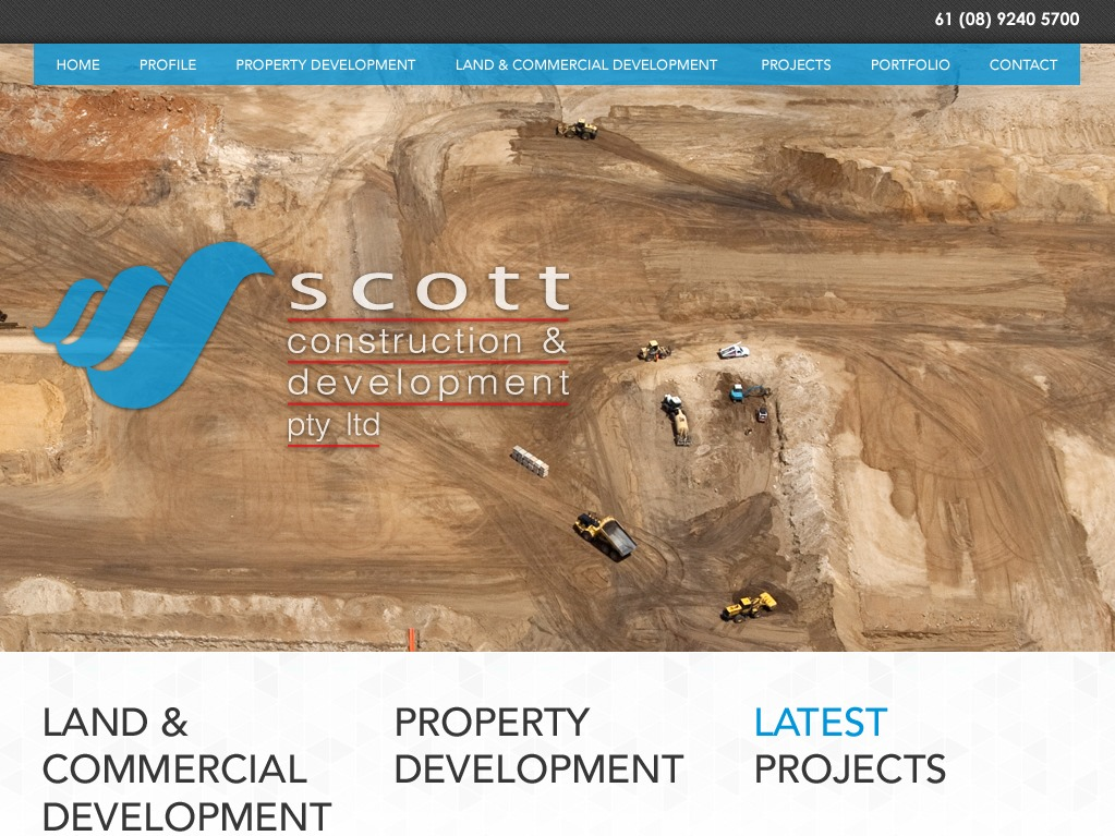 WordPress theme Scott Construction