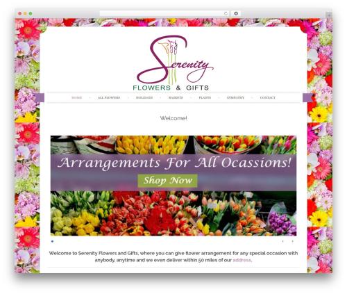 WordPress theme Sugar and Spice - serenityflowersandgifts.com