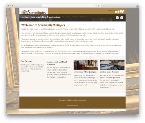 Yasmin top WordPress theme - serendipity-antiques.com