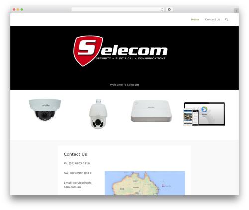 Adventurous template WordPress free - selecom.com.au
