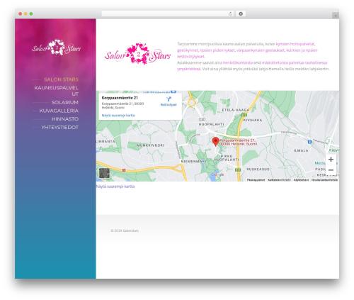 BeautySpot template WordPress - salonstars.fi