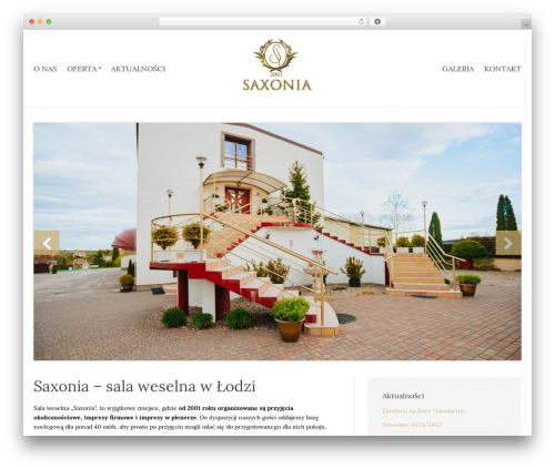 Best WordPress template Sixty One - saxonia.pl
