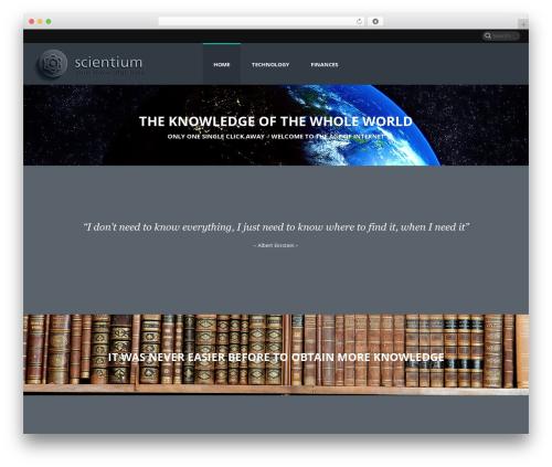 Jupiter theme WordPress - scientium.net
