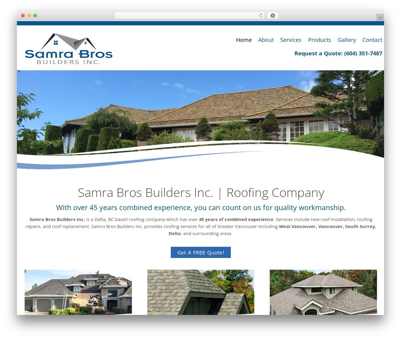 Longevity template WordPress free - samrabros.ca