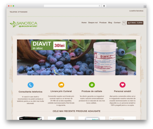 Organic Web Shop WordPress ecommerce theme - sanoteca.ro