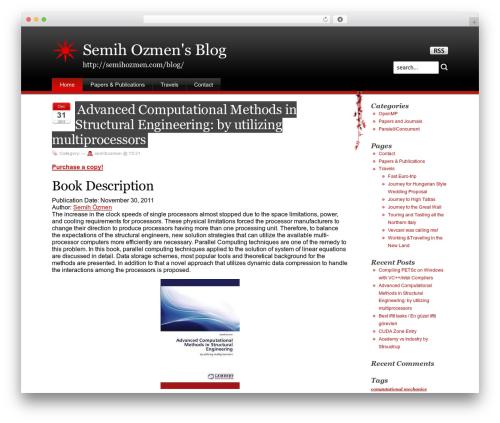 Stardust WordPress blog template - semihozmen.com/blog