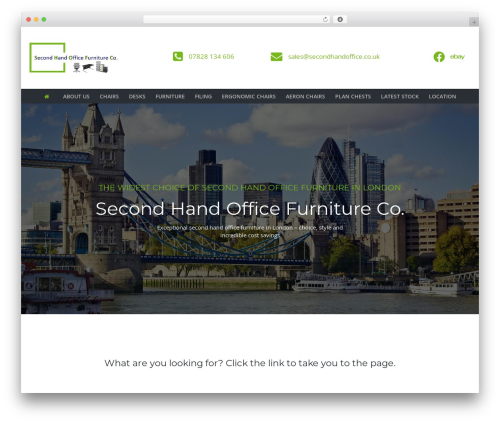 TheBuilt template WordPress - secondhandoffice.co.uk