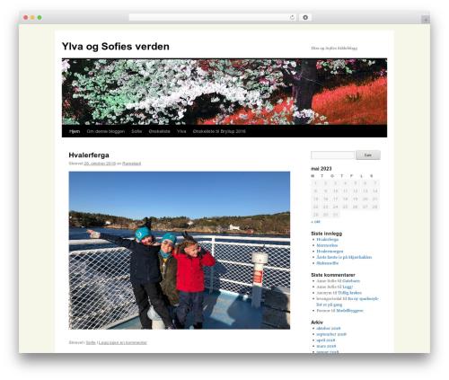 Twenty Ten template WordPress - sofie.ramskjell.com