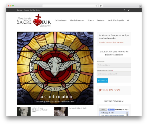 Voice theme WordPress - sacrecoeur.ro