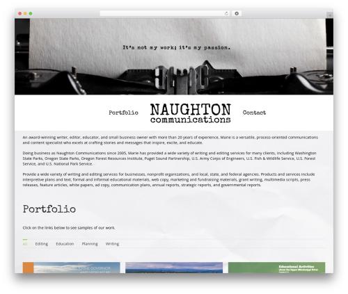 Avada premium WordPress theme - naughtoncommunications.com