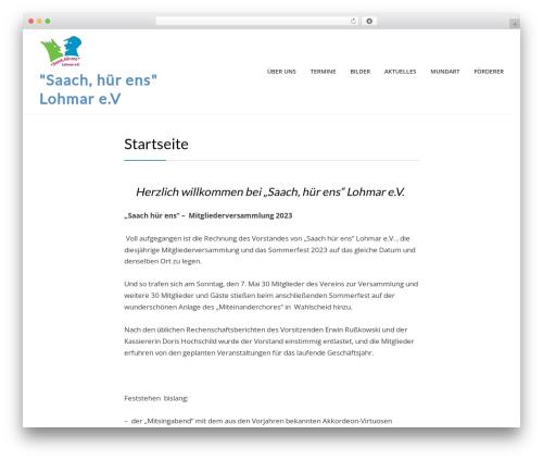 Cell WordPress theme - saachhuerens.de