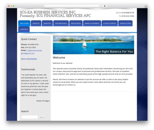 Customized business WordPress theme - scgfs.com