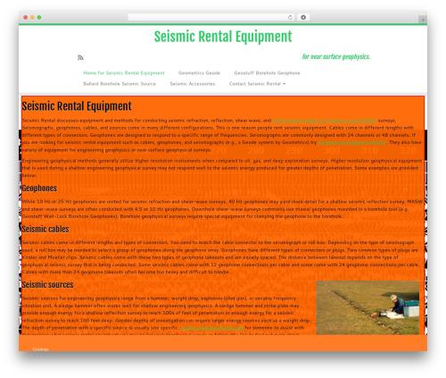 Customizr Pro theme WordPress - seismicrental.com