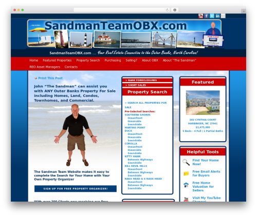 Modular WordPress theme design - sandmanteamobx.com