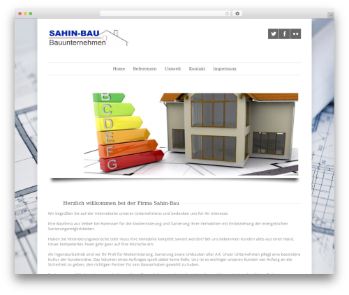 Quare WordPress theme - sahin-bau.com