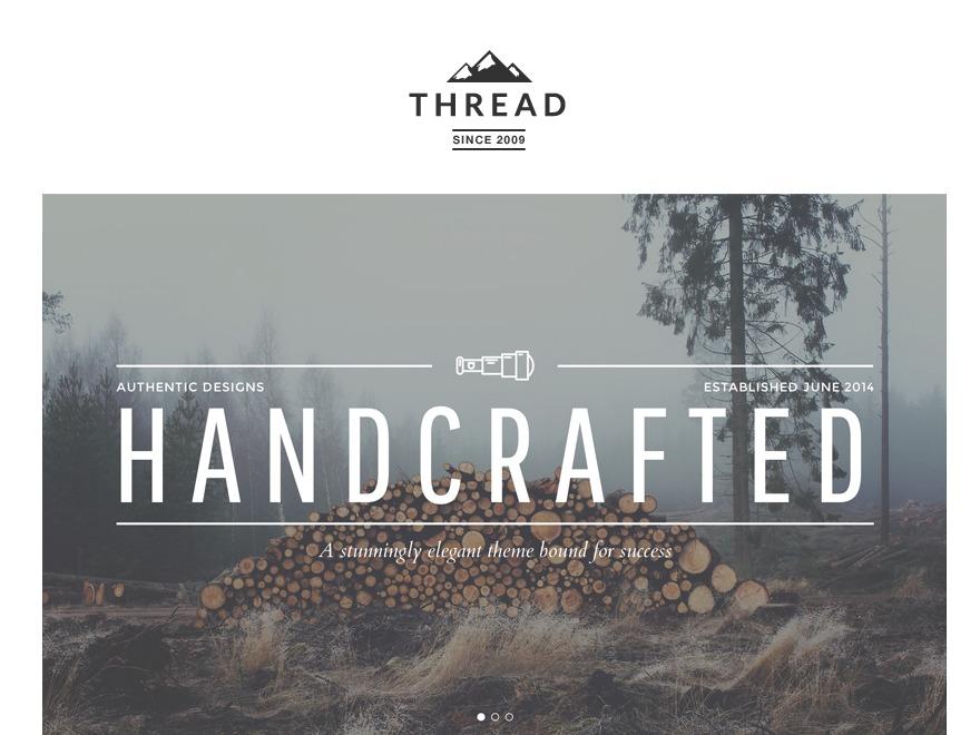 Thread-segway theme WordPress portfolio