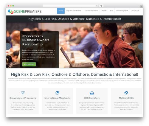 WordPress template BusiProf Pro - scenepremiere.com