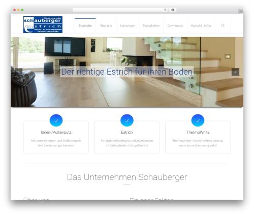 WordPress website template Salamat - schauberger-estrich.de