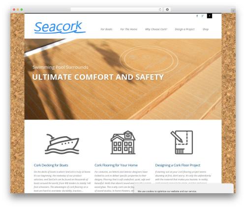 Agility WordPress template - seacorkfloor.com
