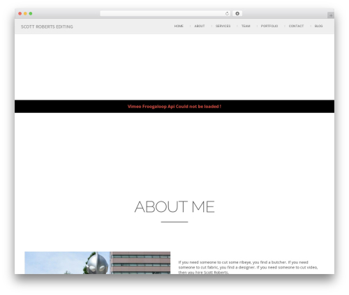 Best WordPress template Attractor Theme - scottrobertsediting.com