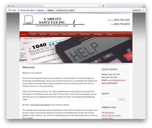 Best WordPress theme Customized - samstax4u.com