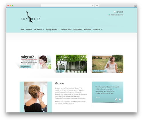 Modulo WordPress theme - sensoria.com.au