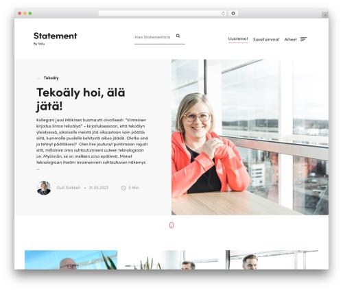 Statement free website theme - statement.fi