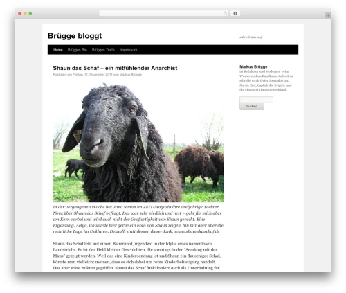 Twenty Ten best WordPress theme - schreibdasauf.de