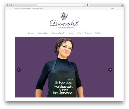Lounge WordPress theme - salon-lavendel.nl