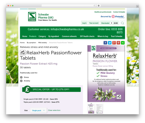SchwabeEcommerse_Redesign top WordPress theme - schwabepharma.co.uk/product/relaxherb-passion-flower-tablets