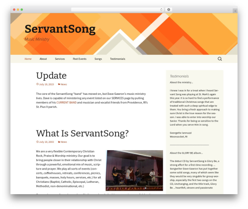 Twenty Thirteen WordPress theme free download - servantsong.com