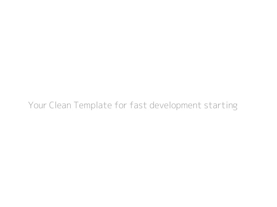 your-clean-template WordPress theme