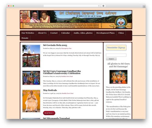 Builder WordPress news theme - sevaashram.com